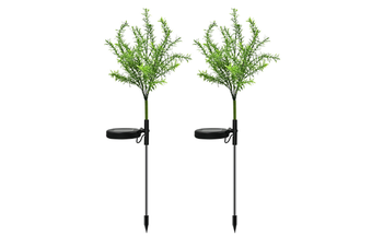 Select Mall 2PCS Solar Garden Light Simulation Christmas Tree Light Color Garden Decoration Landscape Lawn Light