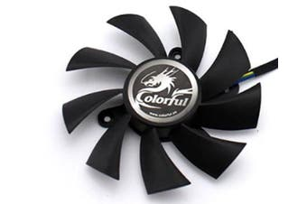 Select Mall The Laptop Graphics Card Cooling Fan Is Suitable for Colorful Rainbow GTX1060 1050ti 1050 950 ITX
