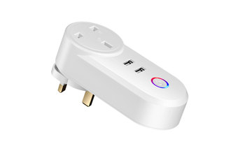 Select Mall WIFI Smart Socket Timer Switch with Dual USB Ports Is Suitable for British Socket