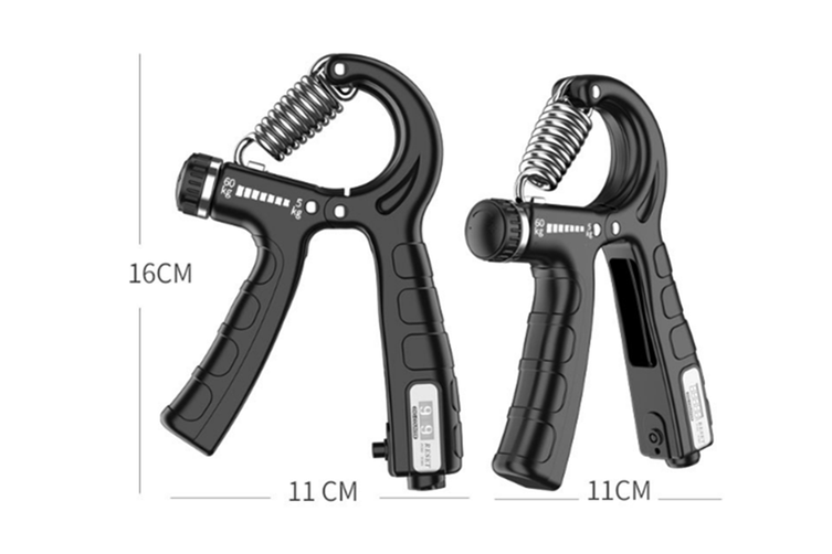 Select Mall 2PCS R-shaped Gripper Finger Rehabilitation Training Arm Force Wrist Force Device Adjustable and Countable Fitness Equipment