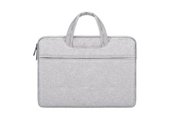 Select Mall 14.1 Inch Waterproof and Wear-resistant Laptop Bag Notebook Liner Bag Business Exhibition Bag-11#-Grey