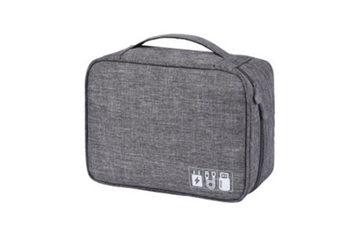 Select Mall Men And Women Multi-Function Digital Storage Bags Earphone USB Data Cable Storage Bags - Gray