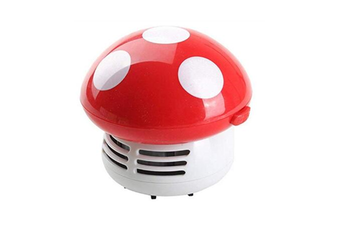 Select Mall Mini Cute Table Dust Vaccum Cleaner, Mushroom Shaped New Portable Corner Desk Vaccum Cleaner Mini Cute Vacuum Cleaner Dust Sweeper-RED