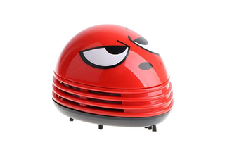 Select Mall Mini Cute Cartoon Desk Table Dust Keyboard Dust Vacuum Cleaner SweeperHand Held Sweeper for Home Office Creative Gifts-RED