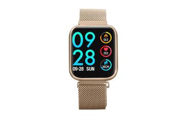 Select Mall Smart Bracelet Heart Rate Blood Pressure Waterproof Smart Watch-GOLD