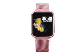 Select Mall Smart Bracelet Heart Rate Blood Pressure Waterproof Smart Watch-PINK