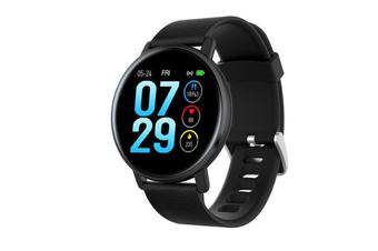 Select Mall Smart Bracelet Heart Rate Blood Pressure Waterproof Smart Watch-BLACK
