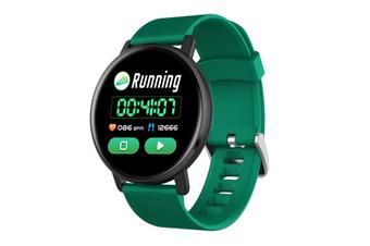 Select Mall Smart Bracelet Heart Rate Blood Pressure Waterproof Smart Watch-GREEN