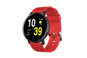Select Mall Smart Bracelet Heart Rate Blood Pressure Waterproof Smart Watch-RED