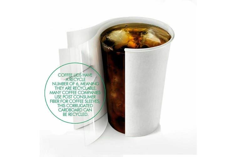 110 Pcs 12oz Disposable Takeaway Coffee Paper Cups Triple Wall Take Away w Lids