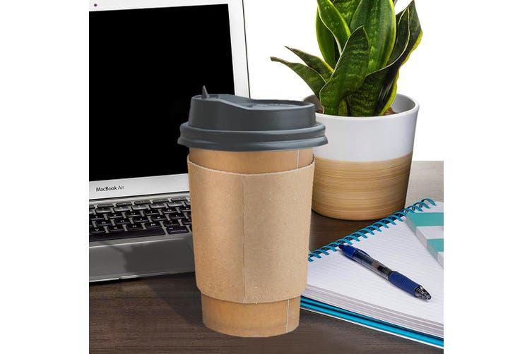 100 Pcs 20oz Disposable Takeaway Coffee Paper Cups Triple Wall Take Away Lids