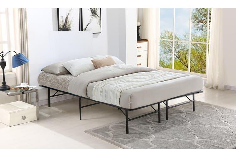 Levede Foldable Metal Bed Frame Mattress Base Platform Air BnB King Single Size