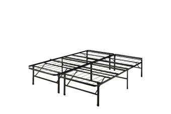 Levede Foldable Metal Bed Frame Mattress Base Platform Air BnB Queen Size