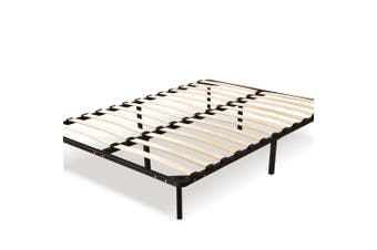 Levede Metal Bed Frame Mattress Base with Timber Slats Air BnB Double Size