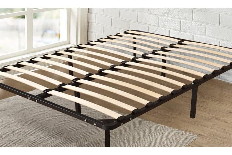 Levede Metal Bed Frame Mattress Base with Timber Slats Air BnB Queen Size