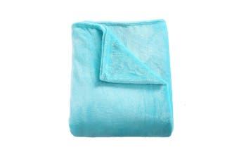 DreamZ 320GSM 220x240cm Ultra Soft Mink Blanket Warm Throw in Teal Colour