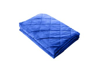 DreamZ 11KG Double Size Anti Anxiety Weighted Blanket Gravity Blankets Blue
