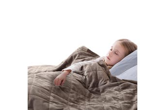 DreamZ 2KG Kids Anti Anxiety Weighted Blanket Gravity Blankets Mink Colour