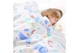 DreamZ Kids All Seasons Quilt Covers Cotton Weighted Blankets Cartoon Print