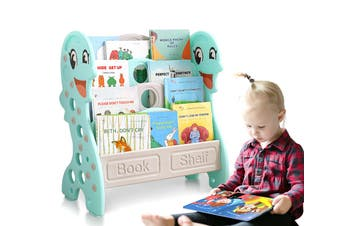 BoPeep Kids Bookshelf Bookcase Magazine Rack Organiser Shelf Children Green