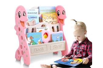 BoPeep Kids Bookshelf Bookcase Magazine Rack Organiser Shelf Children Pink