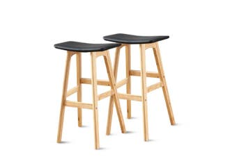 4x Levede PU Leather Swivel Bar Stool Kitchen Stool Dining Chair Barstools Black