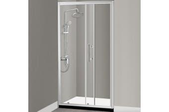 Levede Bath Shower Enclosure Screen Seal Strip Glass Shower Door 1100x1900mm