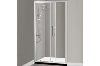 Levede Bath Shower Enclosure Screen Seal Strip Glass Shower Door 1400x1900mm