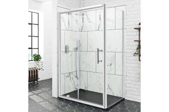 Levede Bath Shower Enclosure Screen Seal Strip Glass Shower Door 760x760x1900mm