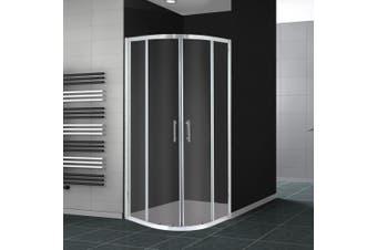 Levede Shower Screen Screens Door Seal Enclosure Glass PanelCurved800x800x1900mm