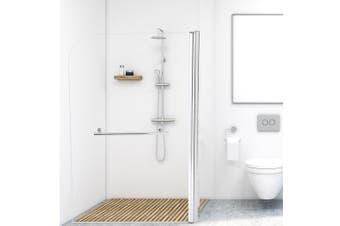 Levede Shower Screen Bath Screens Glass Door Seal Swing Panel Frameless 800mm