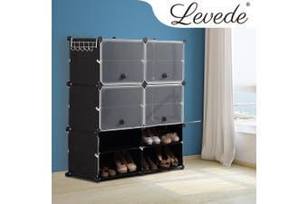 Cube Cabinet DIY Shoe Storage Cabinet Organiser Rack Shelf Stackable 6 Tier