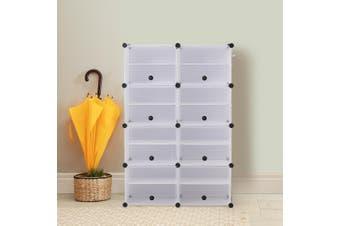 Cube Cabinet DIY Shoe Storage Cabinet Organiser Rack Shelf Stackable 8 Tier