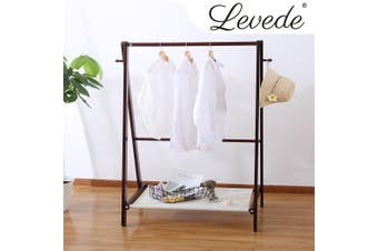 Levede Clothes Rack Stand Garment Hanger Rail Foldable Wooden Organiser Closet