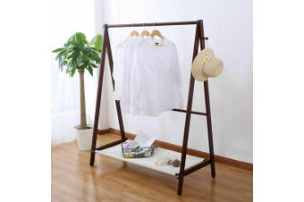 Levede Clothes Rack Folding Garment Portable Wooden Rail Stand Organiser Shelf