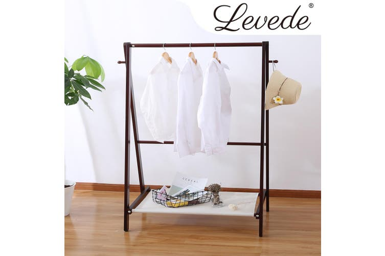 Levede Garment  Wooden Coat Clothes Stand Rack Hat Jacket Bag Shoe Hanger Holder