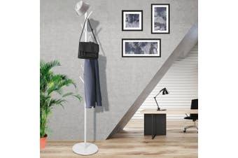 Clothes Stand Garment Hat Coat Rack Metal Rail Portable Hanger Organizer White