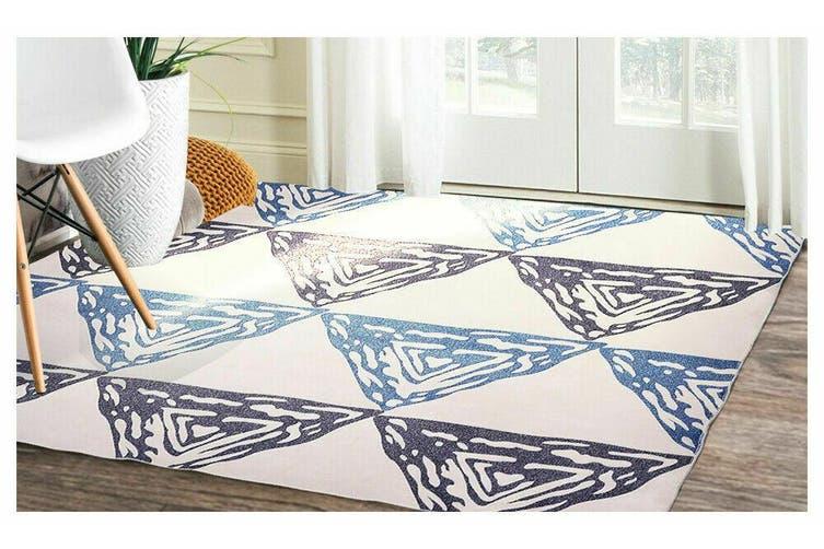 Modern Style Pyramid Theme Non Slip Floor Area Rug Carpet 150x80cm