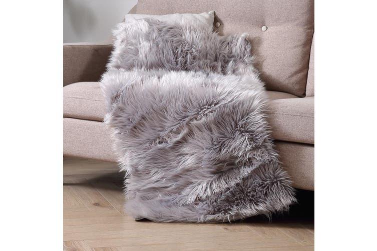 Floor Rug Shaggy Carpet Area Rugs Soft Fur Living Room Bedroom Mats 160X230 Grey