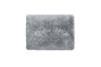 Floor Rugs Sheepskin Shaggy Rug Area Carpet Bedroom Living Room Mat 60X120 Grey