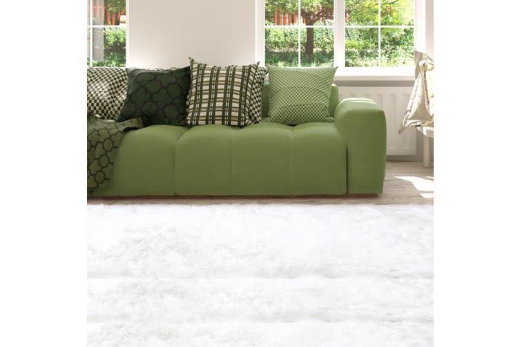 Floor Rug Shaggy Carpet Area Rugs Soft Fur Living Room Bedroom Mats 60X120 White