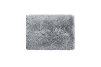 Floor Rugs Sheepskin Shaggy Rug Area Carpet Bedroom Living Room Mat 60X150 Grey