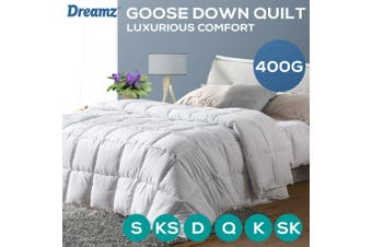 DreamZ All Season Microfiber Down Alternative Comforter Quilt in Queen Size White