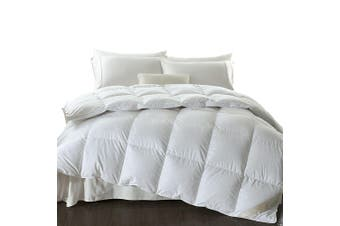 DreamZ 700GSM All Season Goose Down Feather Filling Duvet in Single Size White