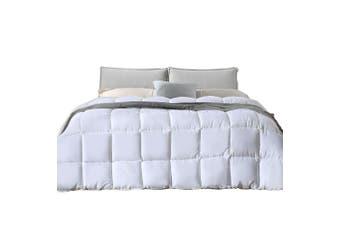 DreamZ 400GSM All Season Bamboo Winter Summer Quilt Duvet Doona Soft Queen Size White