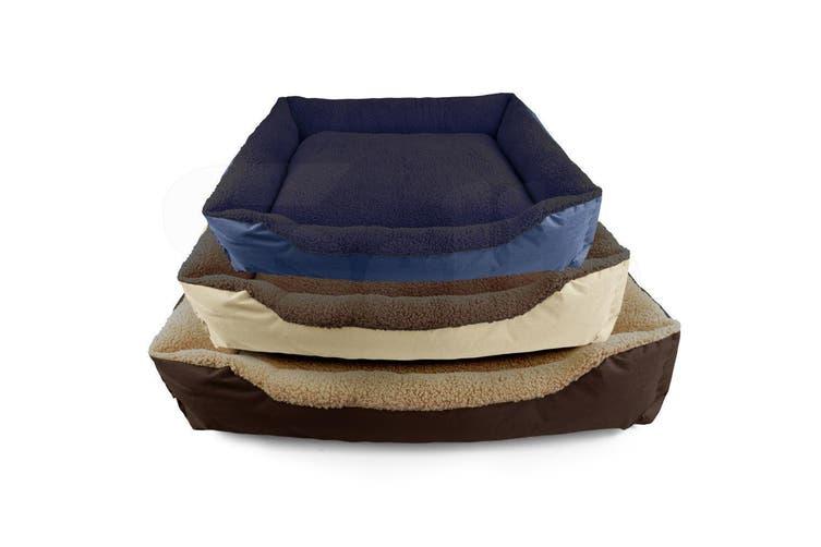 PaWz Pet Bed Mattress Dog Cat Pad Mat Cushion Soft Winter Warm Large Blue
