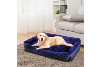 PaWz Pet Bed Mattress Dog Cat Pad Mat Cushion Soft Winter Warm X Large Blue