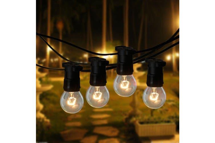 20M Festoon String Lights Kits Christmas Wedding Party Waterproof Indoor/Outdoor
