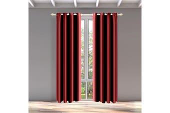 DreamZ Blackout Eyelet Curtains Blockout Curtain Bedroom Darkening Fabric Pair