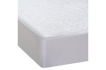 DreamZ Terry Cotton Fyllt Fitted Waterproof Mattress Protector King Single Size
